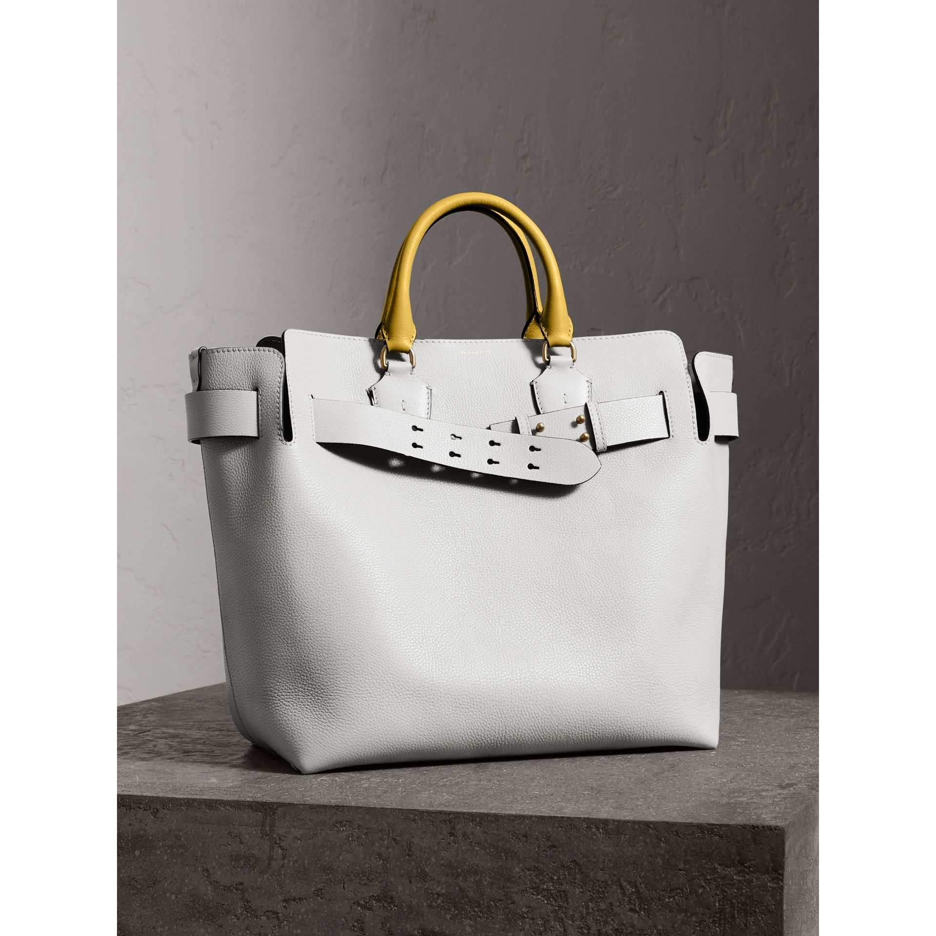 The Large Leather Belt Bag in Chalk White | Burberry Australia - gallery image 8