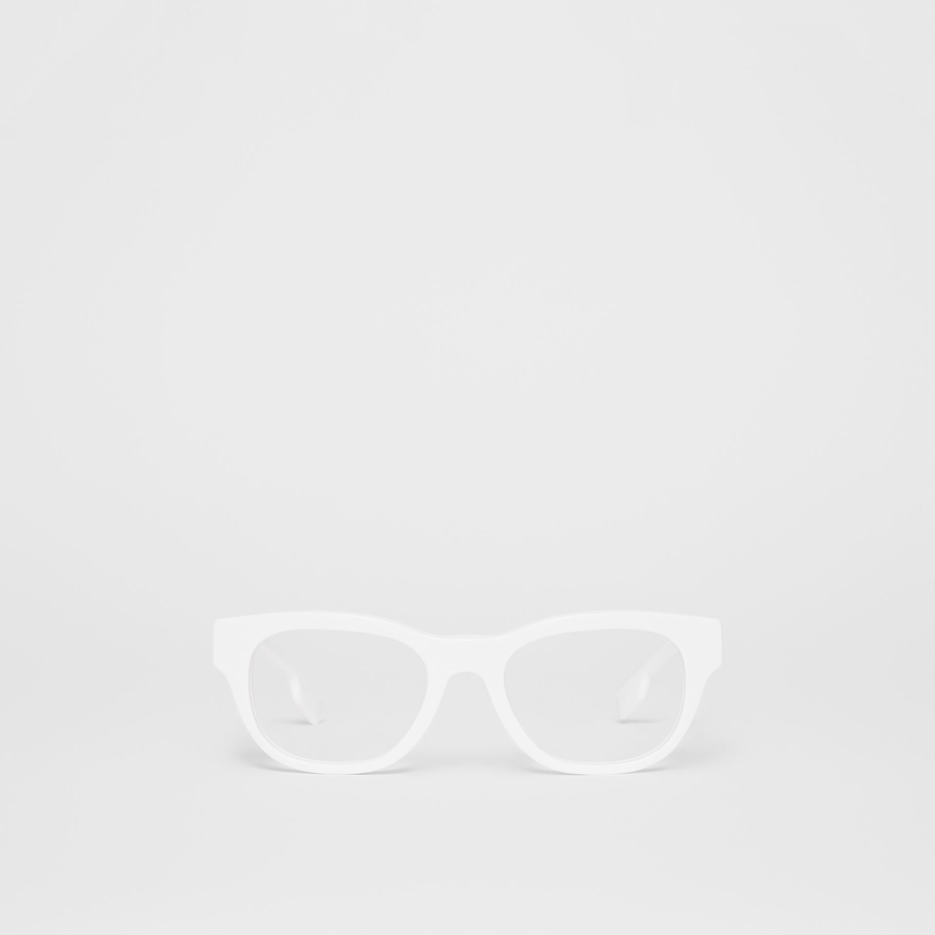 Square Optical Frames in White - Men | Burberry - gallery image 0