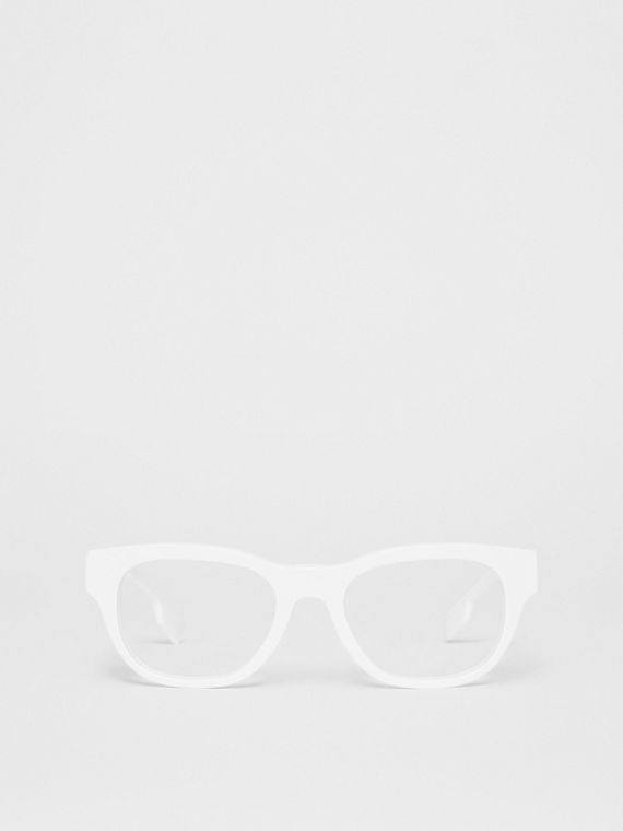 Square Optical Frames in White