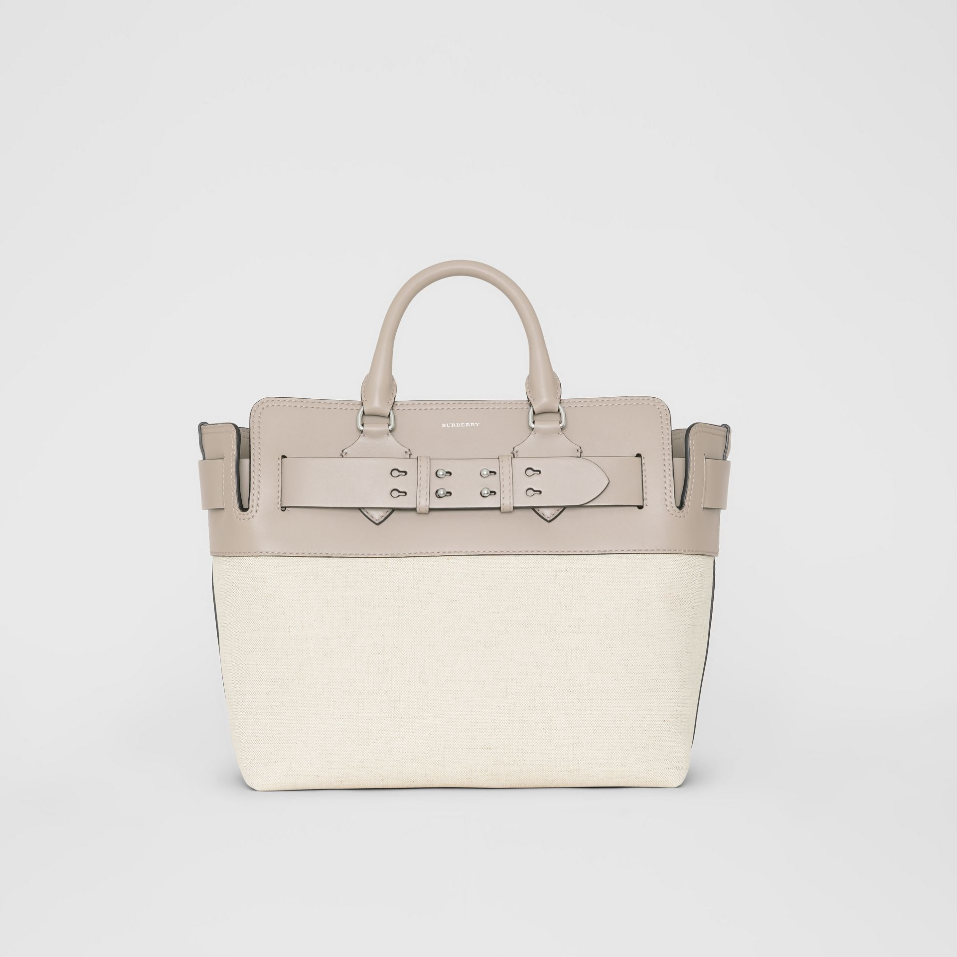 The Medium Canvas and Leather Belt Bag in Grey/stone - Women | Burberry - gallery image 0