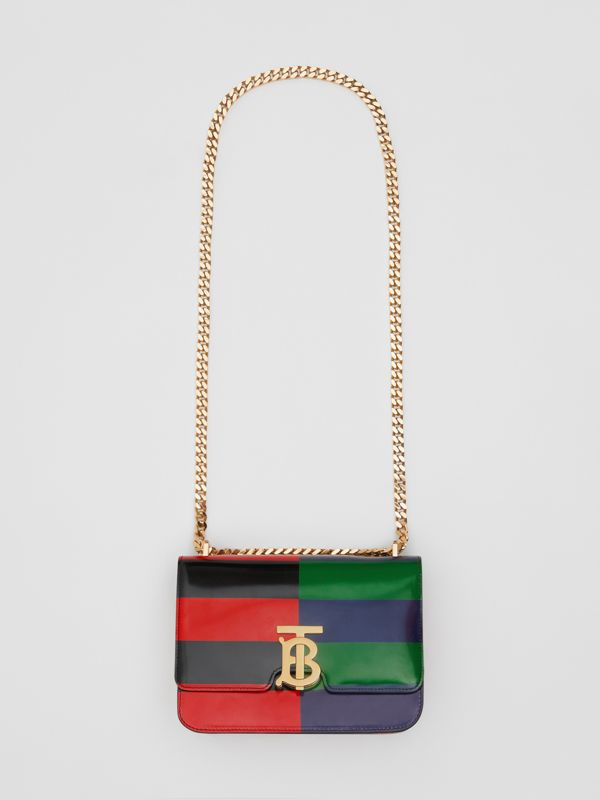 Small Striped Leather TB Bag in Black - Women | Burberry - cell image 3