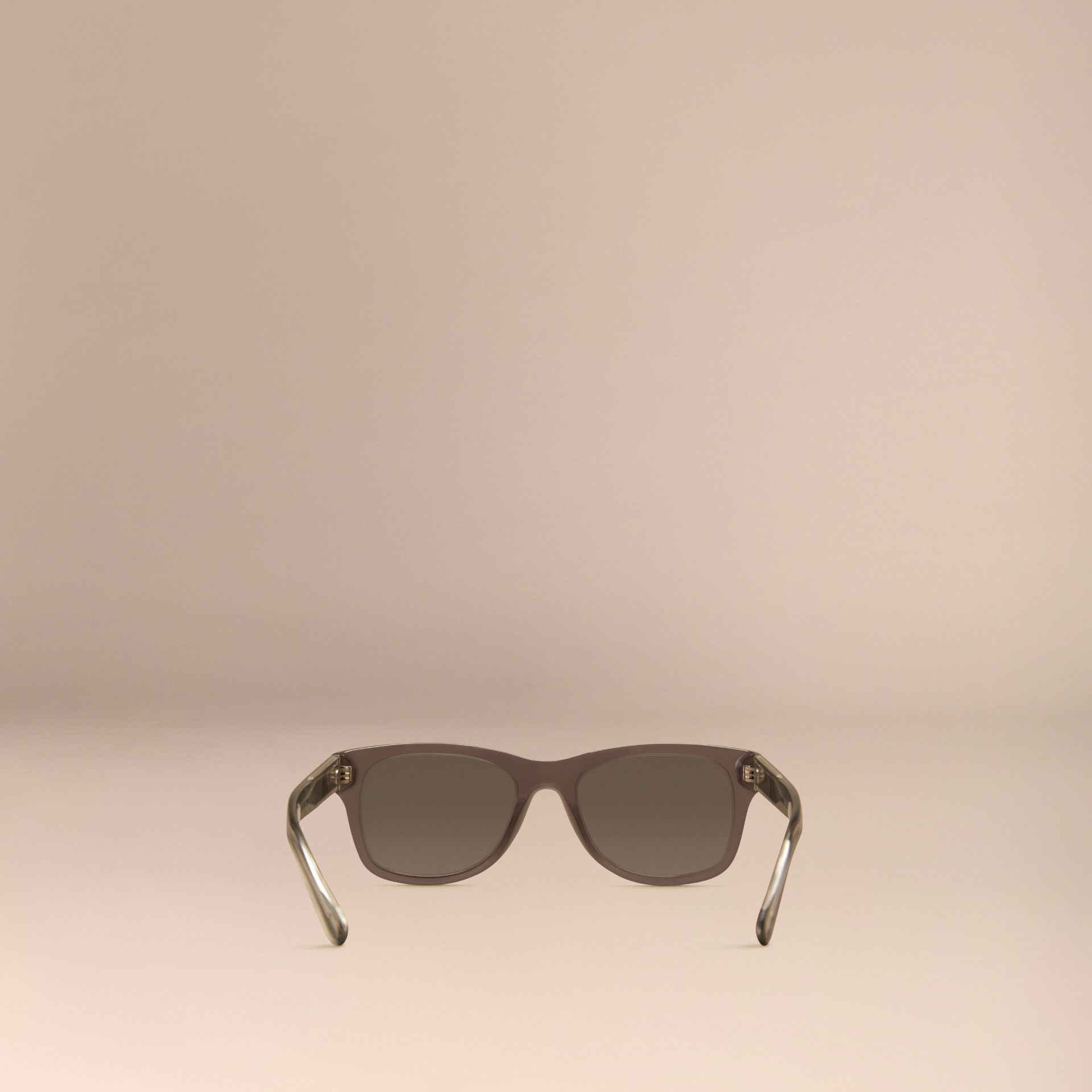 Dark grey Check Detail Square Frame Sunglasses Dark Grey - gallery image 4