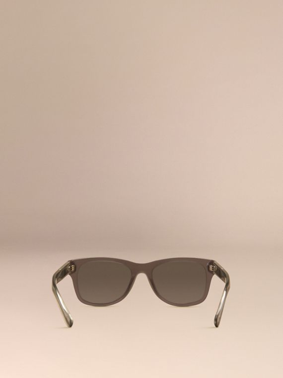 Dark grey Check Detail Square Frame Sunglasses Dark Grey - cell image 3