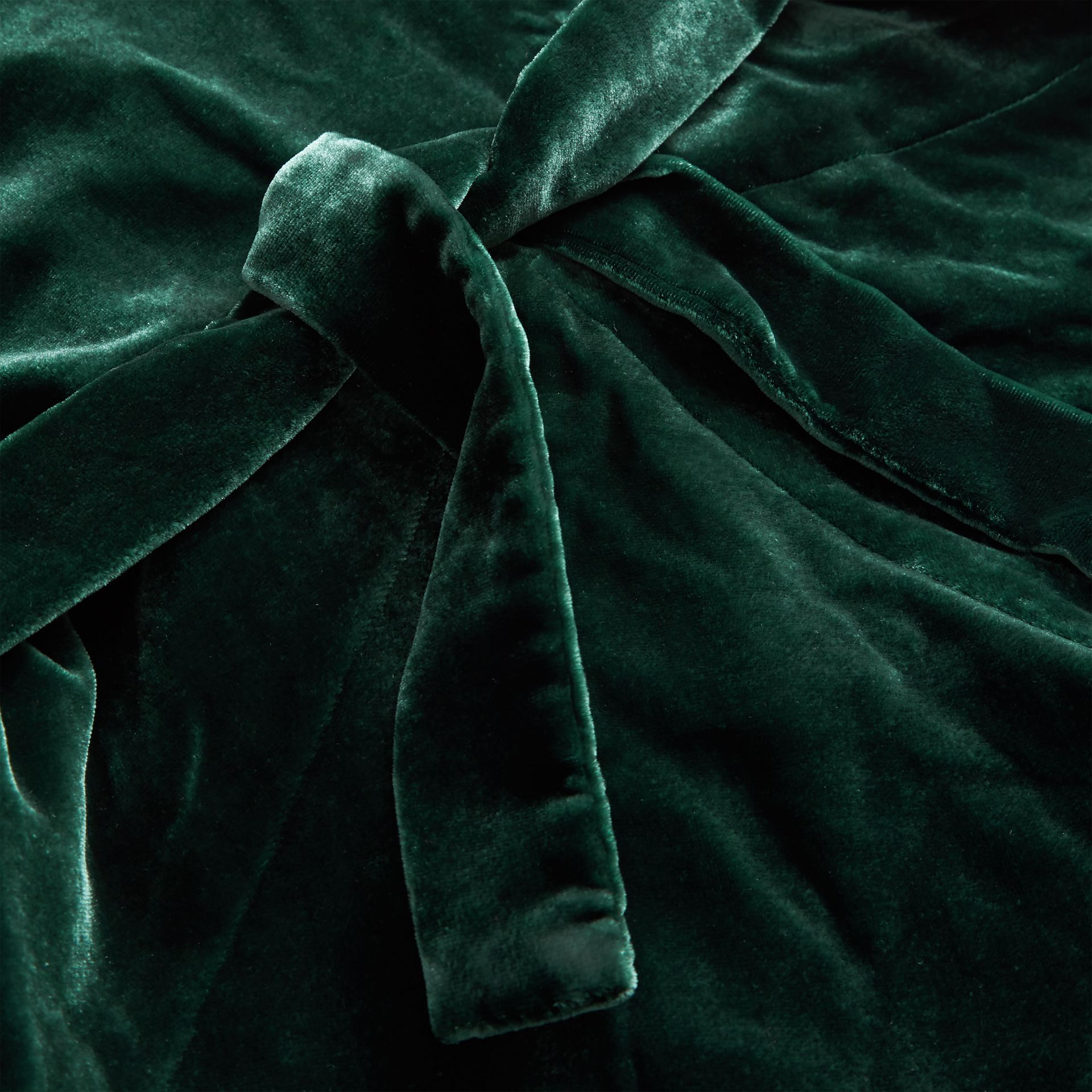 Stripe Detail Velvet Dress in Dark Forest Green | Burberry - gallery image 1