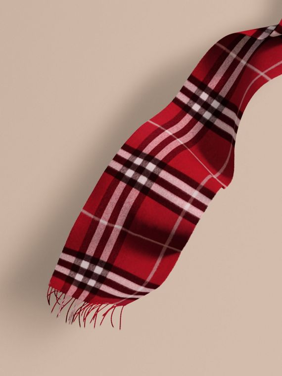 The Classic Cashmere Scarf in Check Parade Red