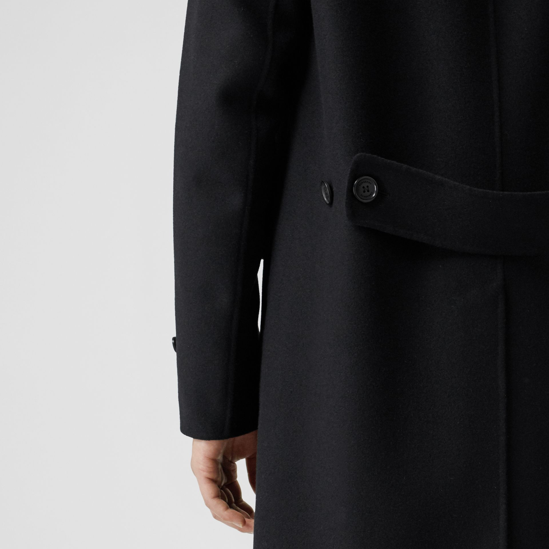 Wool Cashmere Lab Coat in Black - Men | Burberry - gallery image 4