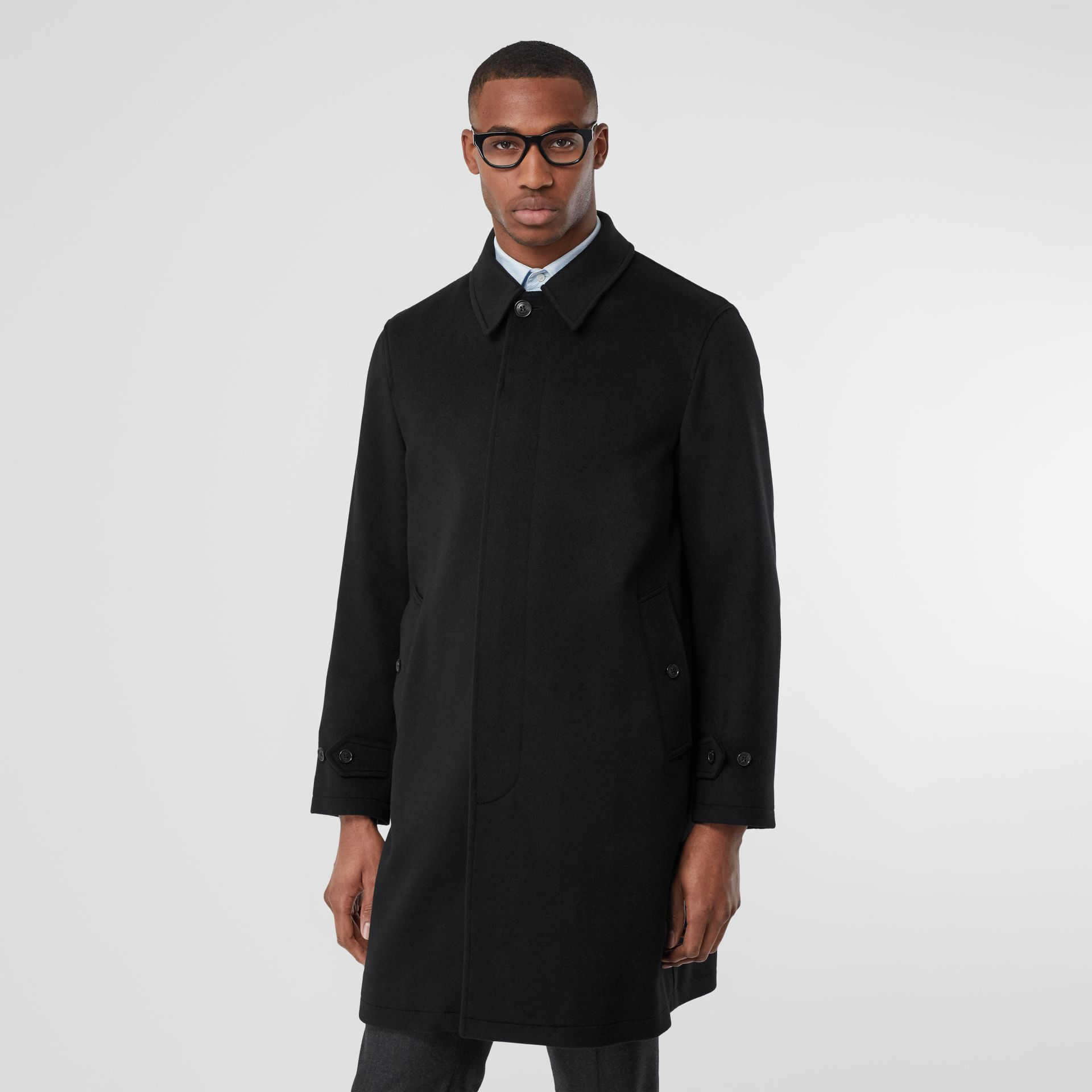 Cashmere Car Coat in Black - Men | Burberry United Kingdom - gallery image 6