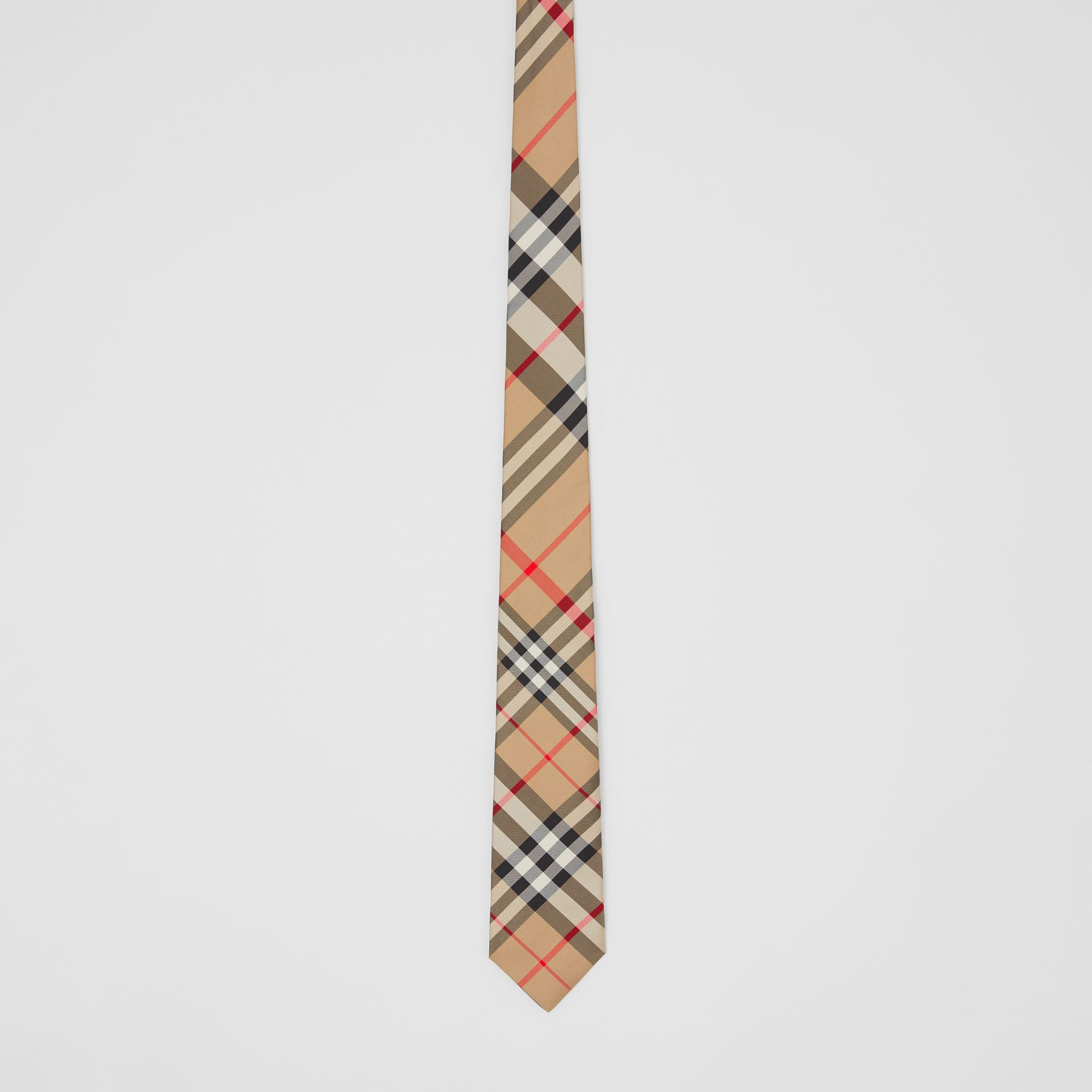 Classic Cut Check Silk Tie in Archive Beige - Men | Burberry Singapore - gallery image 2