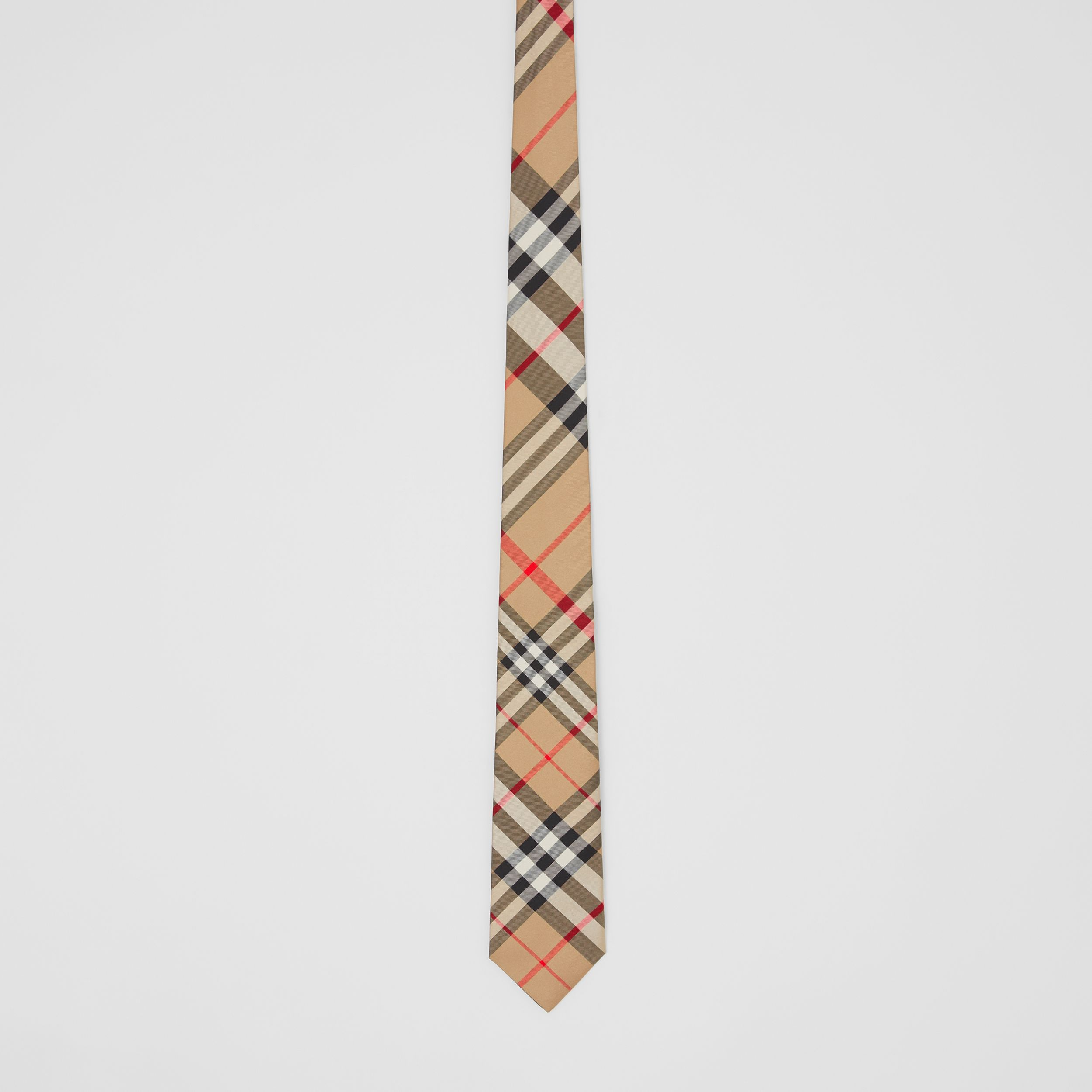Classic Cut Check Silk Tie in Archive Beige - Men | Burberry United Kingdom - 3