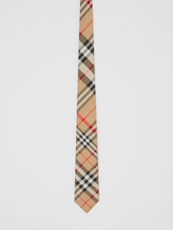 Classic Cut Check Silk Tie in Archive Beige - Men | Burberry - cell image 2