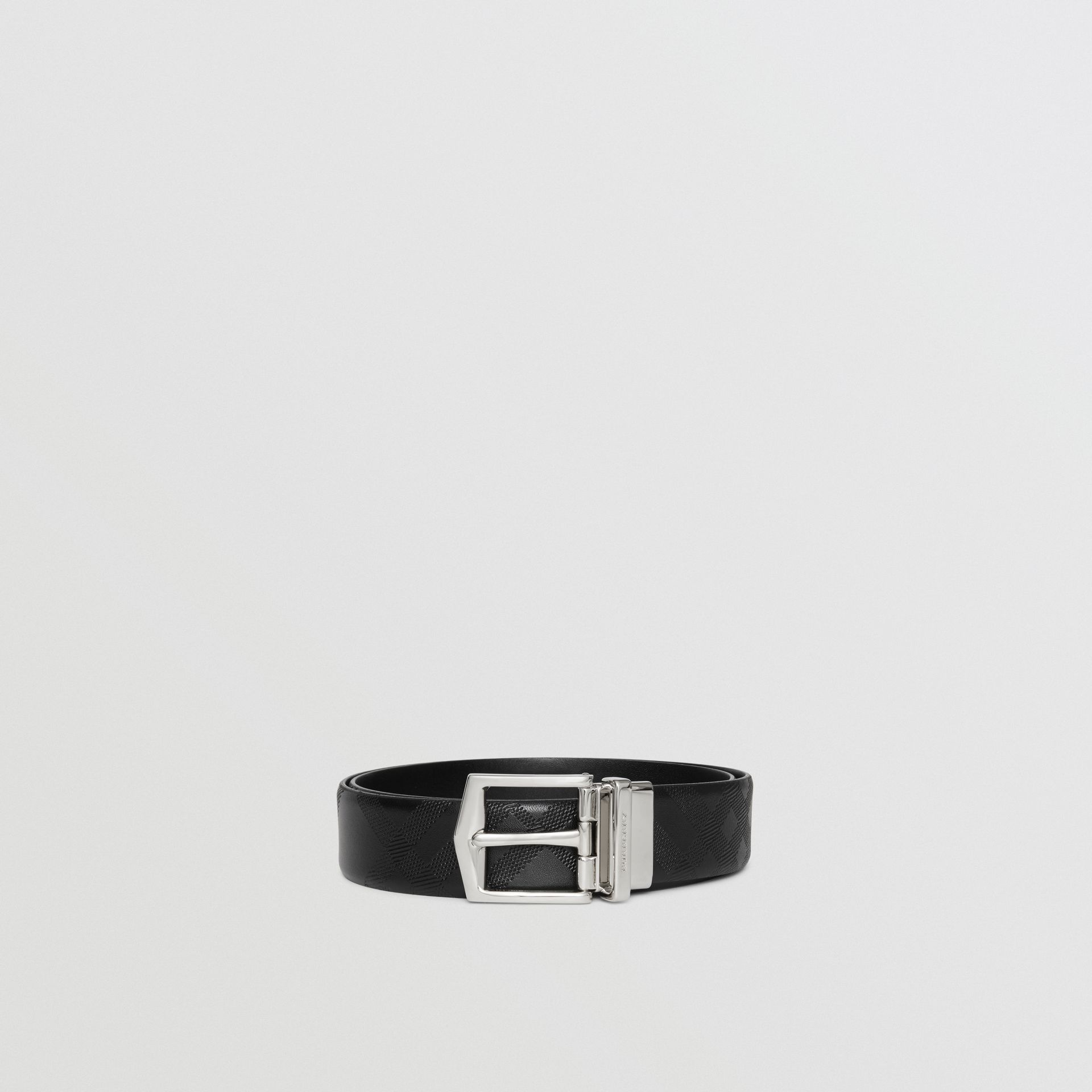 Reversible London Leather Belt in Black - Men | Burberry United States - gallery image 4