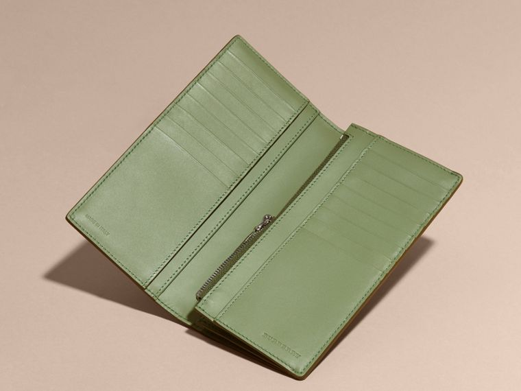 London Leather Continental Wallet Antique Green - cell image 4