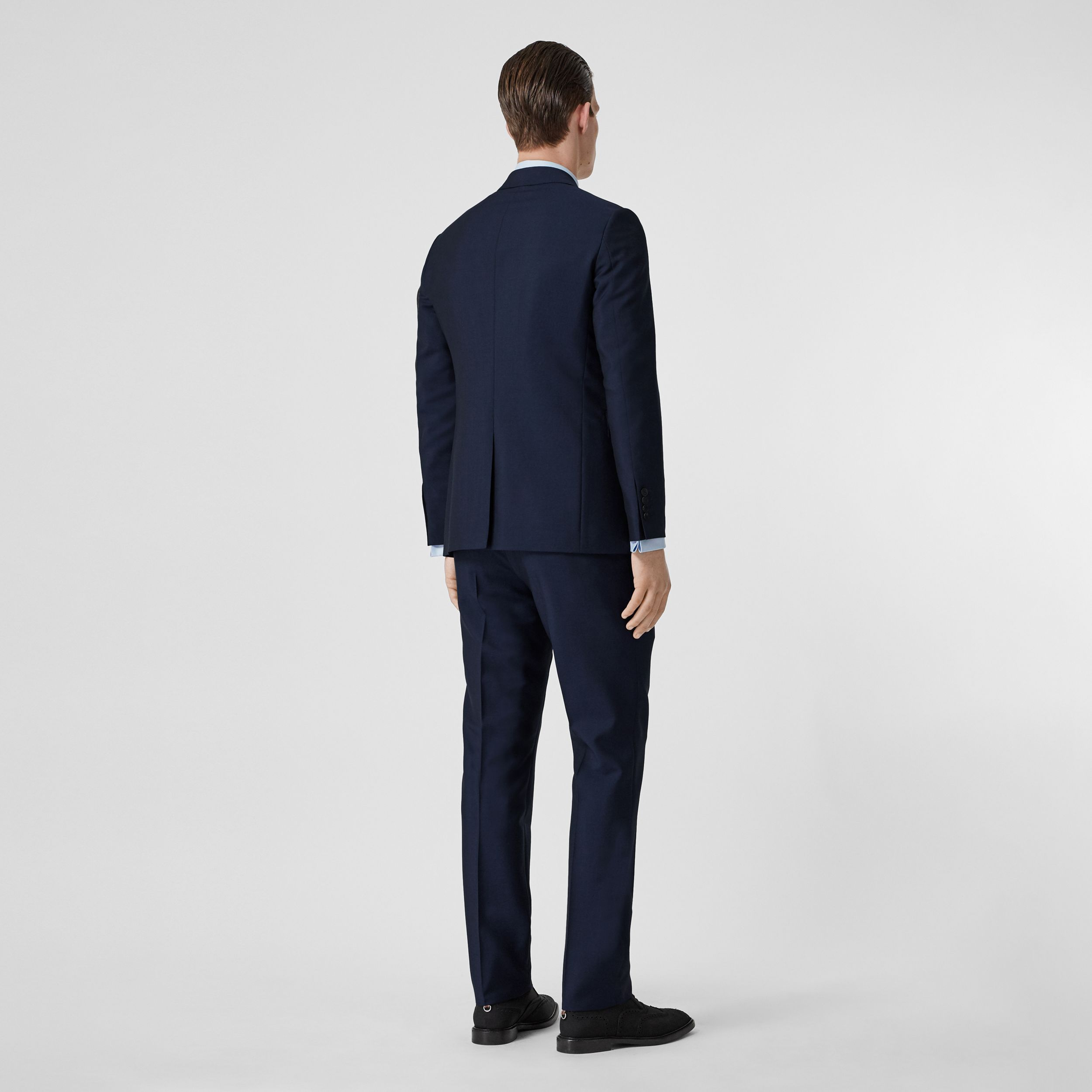 Slim Fit Wool Mohair Suit in Navy - Men | Burberry - 3
