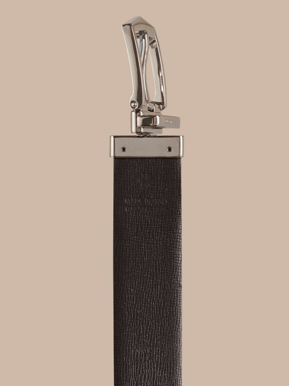 Reversible London Leather Belt in Dark Navy/black - Men | Burberry Canada - cell image 3