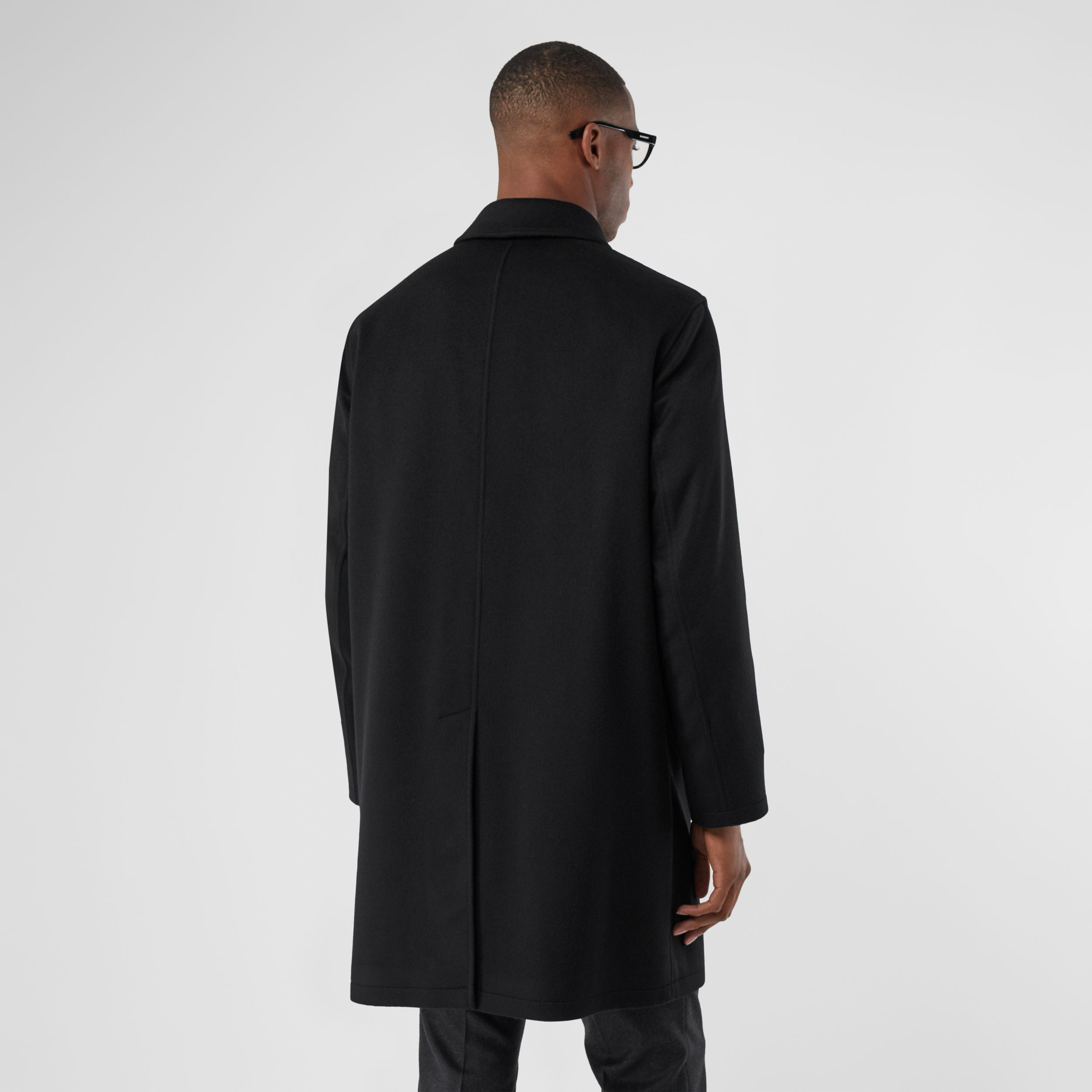 Cashmere Car Coat in Black - Men | Burberry - 3