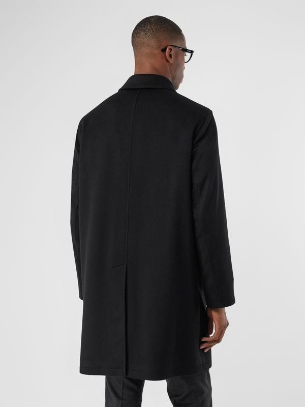 Cashmere Car Coat in Black - Men | Burberry United Kingdom - cell image 2