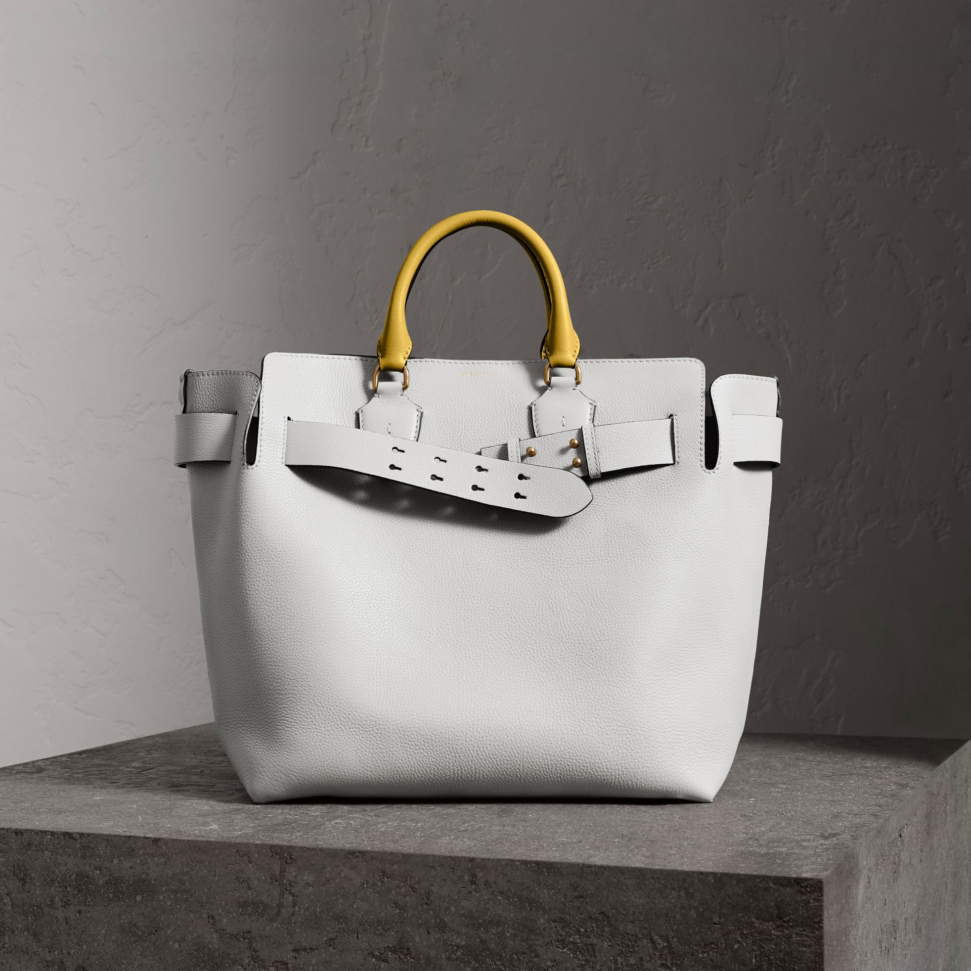 The Large Leather Belt Bag in Chalk White - Women | Burberry United States