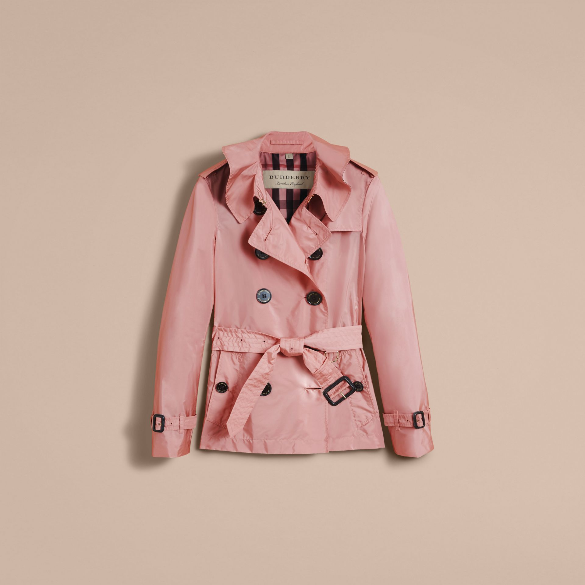 Showerproof Trench Coat in Antique Rose - Women | Burberry United Kingdom - gallery image 4
