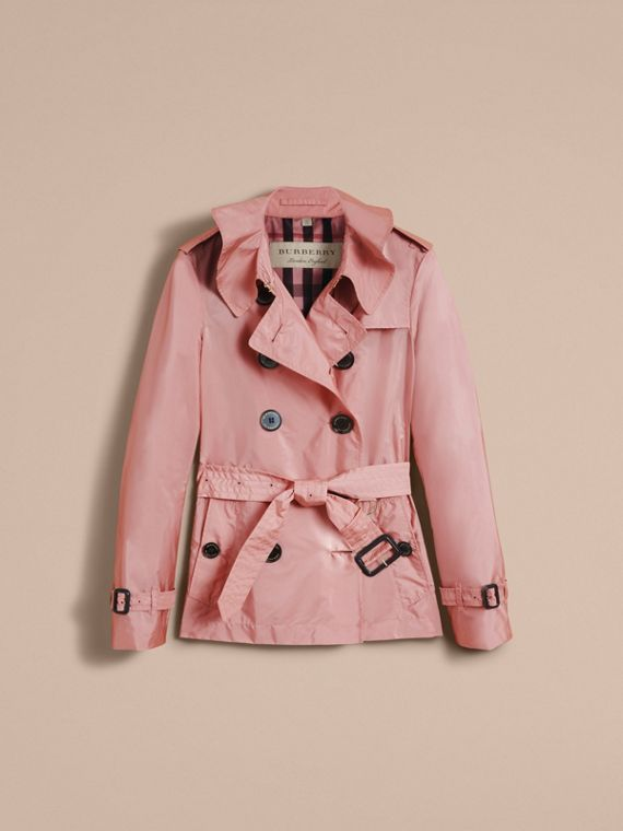 Showerproof Trench Coat in Antique Rose - Women | Burberry - cell image 3