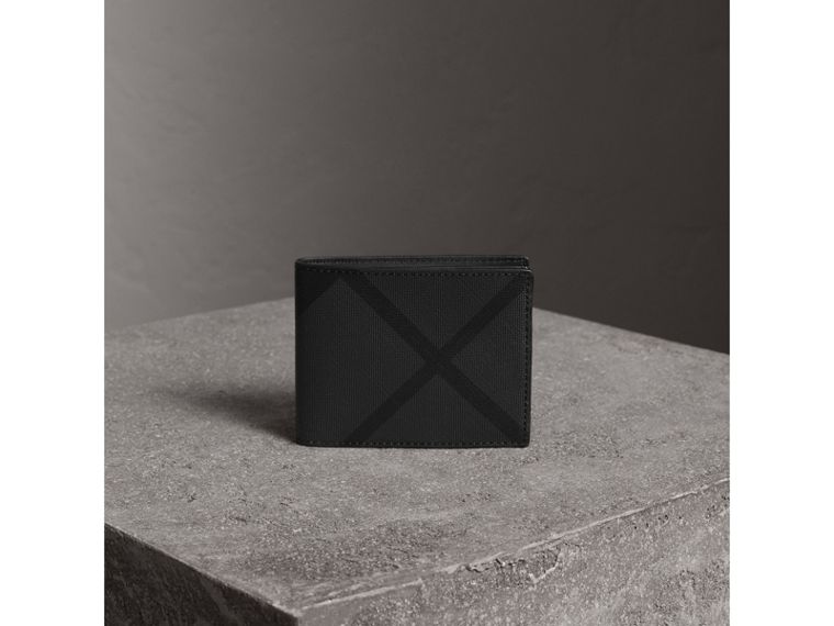 London Check Bifold Wallet in Charcoal/black - Men | Burberry - cell image 4