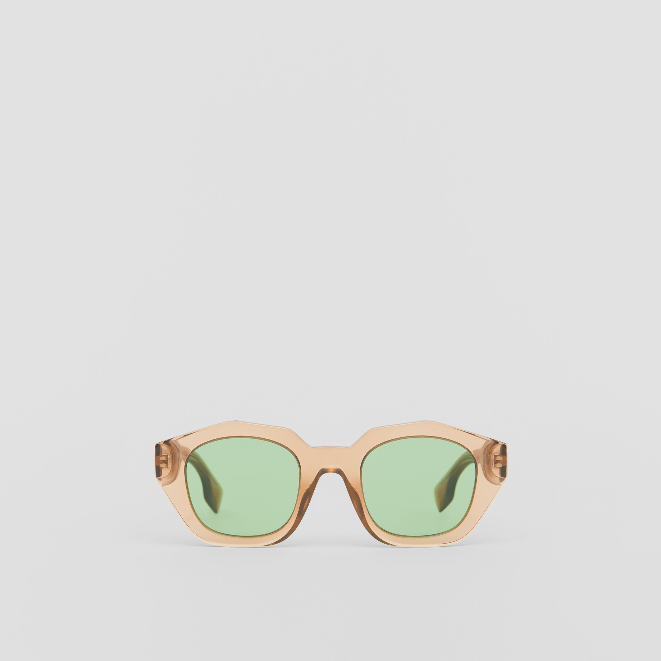 Geometric Frame Sunglasses in Brown - Women | Burberry United Kingdom - 1
