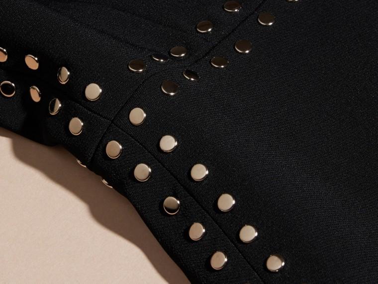 Preto Vestido tubinho ajustado com botões de pressão - cell image 1