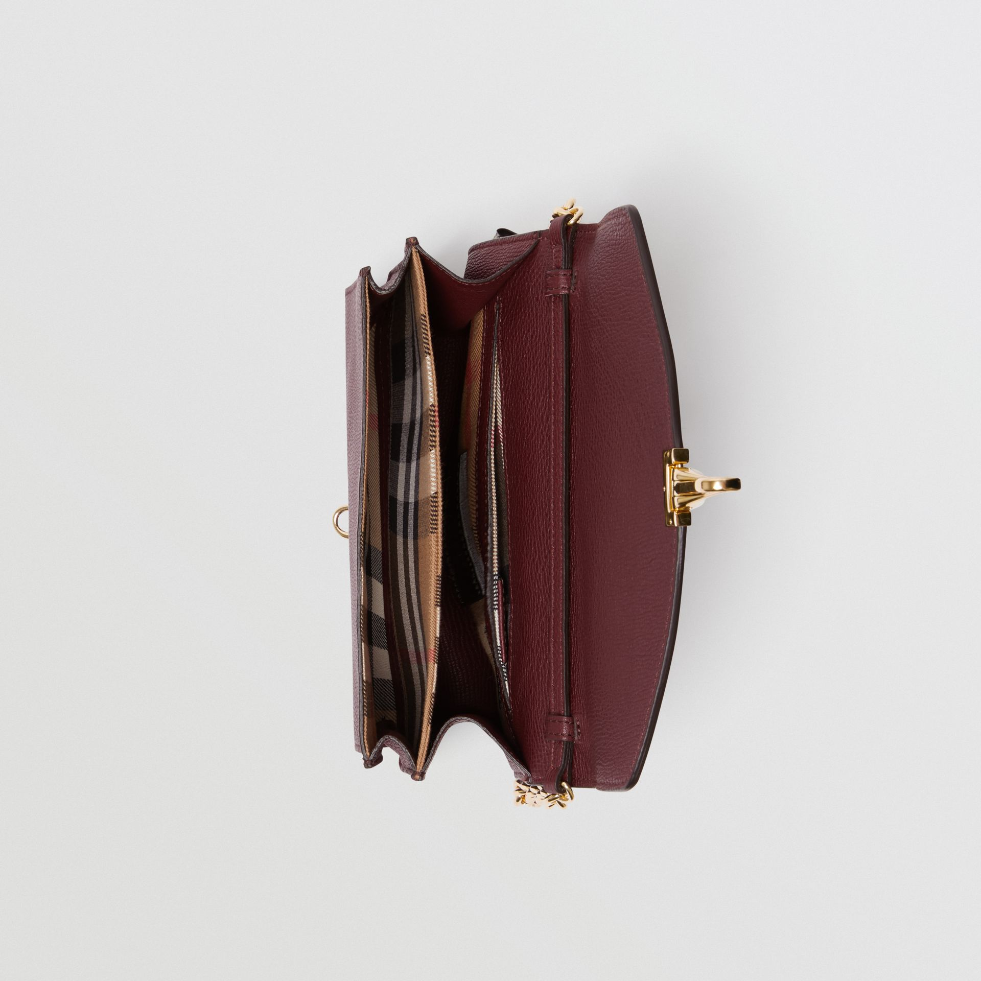Small Leather Crossbody Bag in Mahogany Red - Women | Burberry United States - gallery image 5