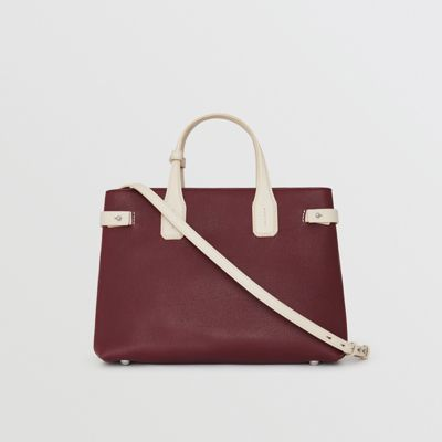 Burberry - Sac The Banner moyen en cuir bicolore - 8