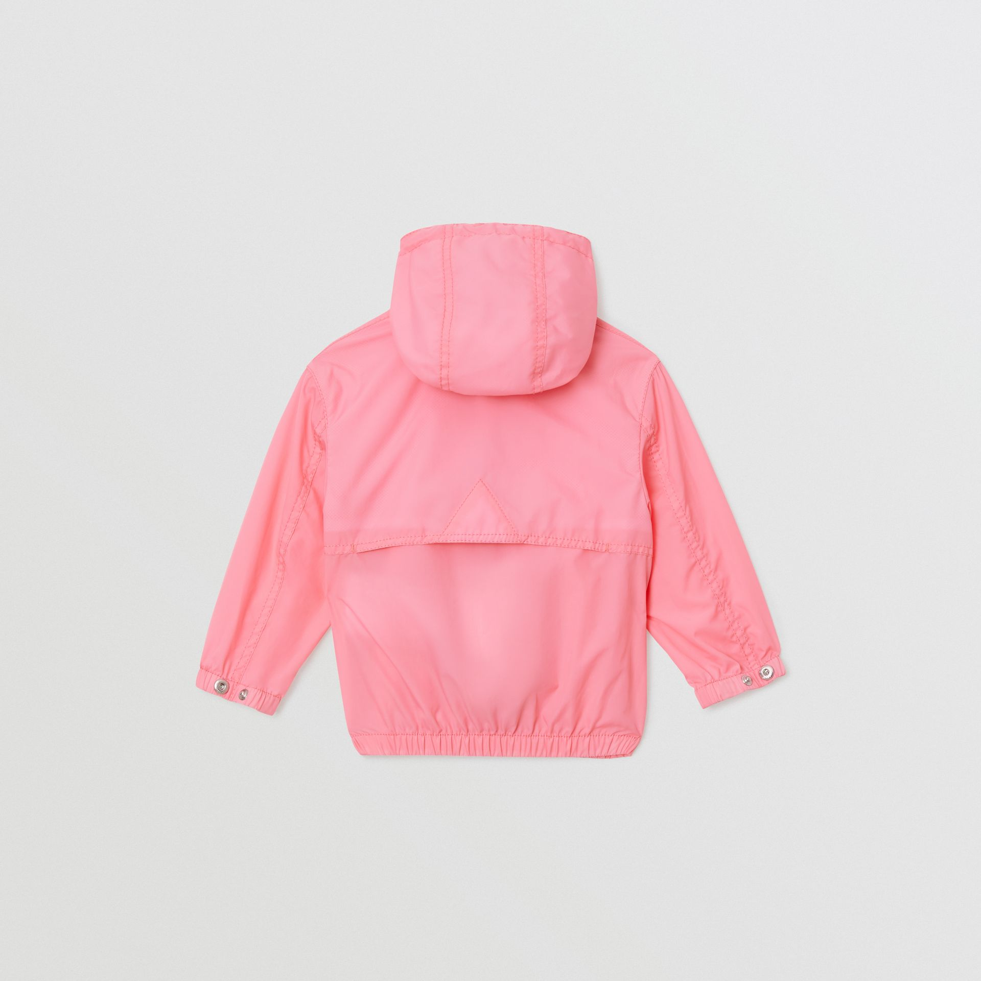 Logo Print Lightweight Hooded Jacket in Bright Rose - Children | Burberry Hong Kong - gallery image 3