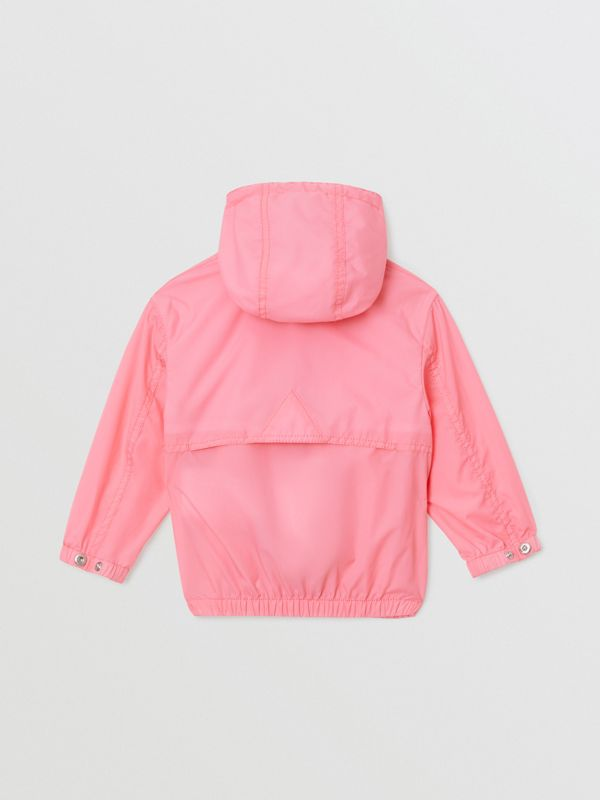Logo Print Lightweight Hooded Jacket in Bright Rose - Children | Burberry - cell image 3