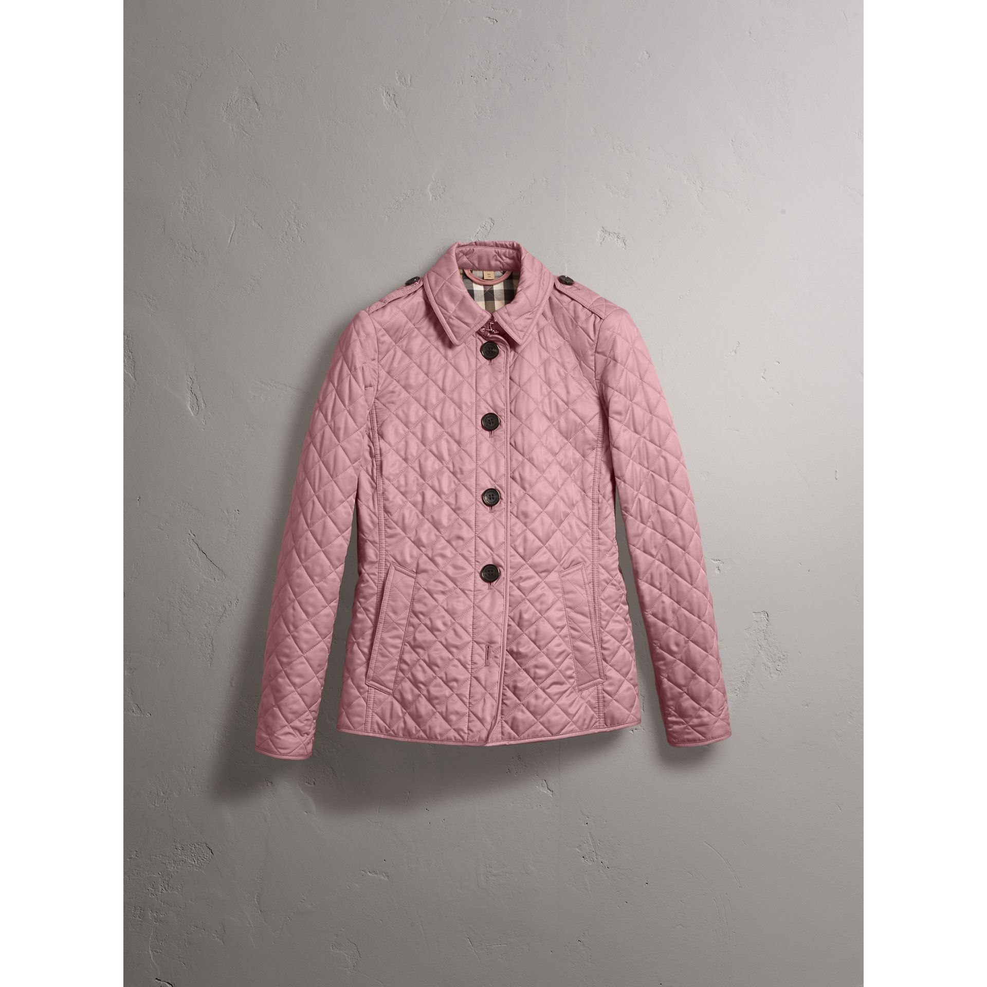 Diamond Quilted Jacket in Vintage Rose - Women | Burberry Australia - gallery image 4