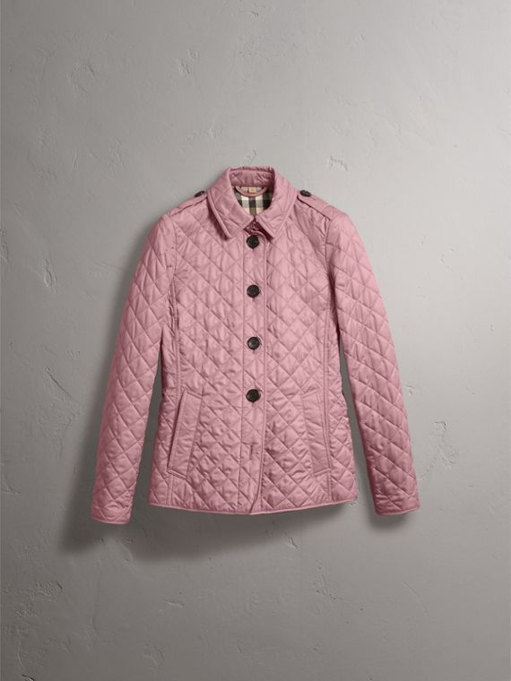 Diamond Quilted Jacket in Vintage Rose - Women | Burberry - cell image 3