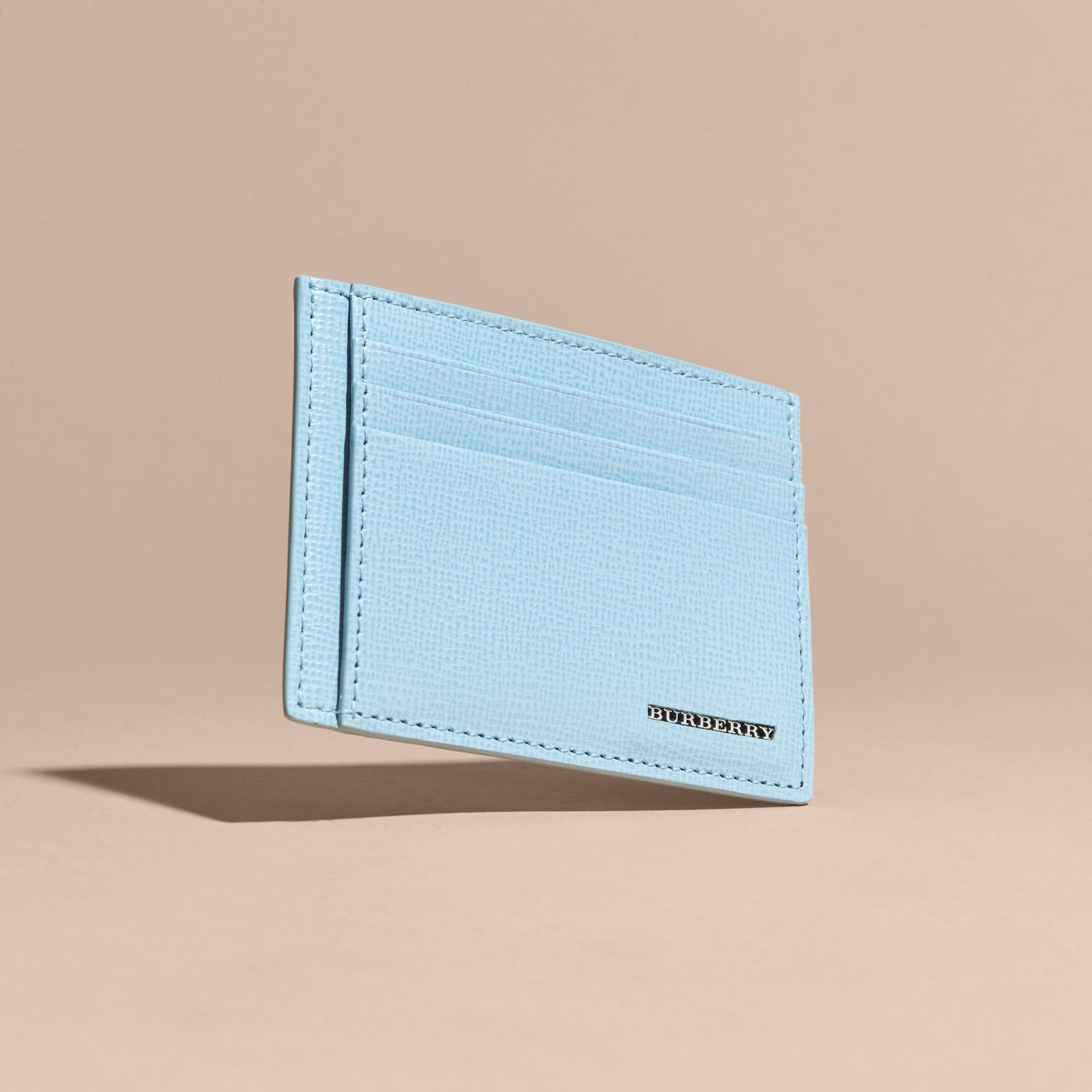 London Leather Card Case Powder Blue - gallery image 5