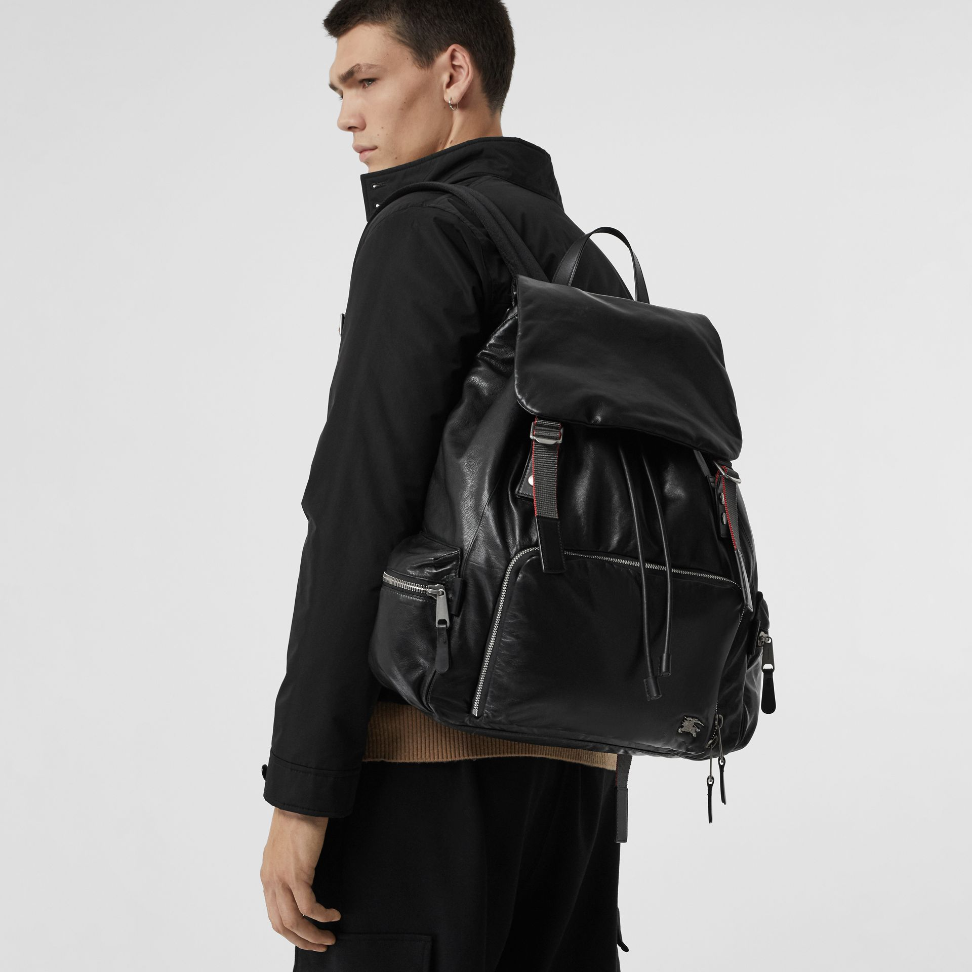 The Extra Large Rucksack in Nappa Leather in Black - Men | Burberry - gallery image 3
