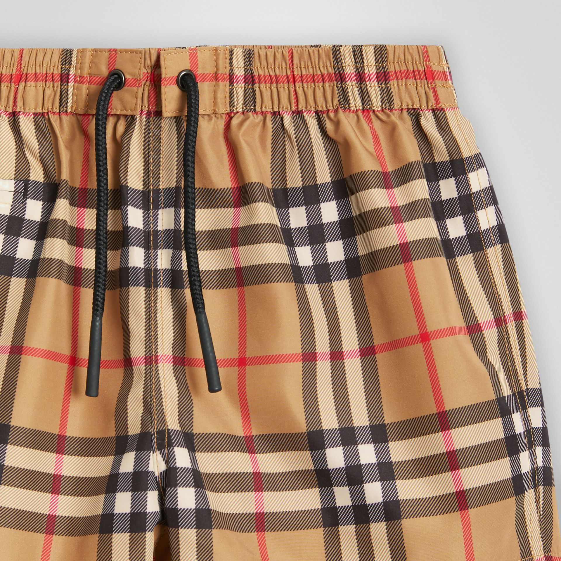 Check Swim Shorts in Antique Yellow - Children | Burberry Canada - gallery image 4