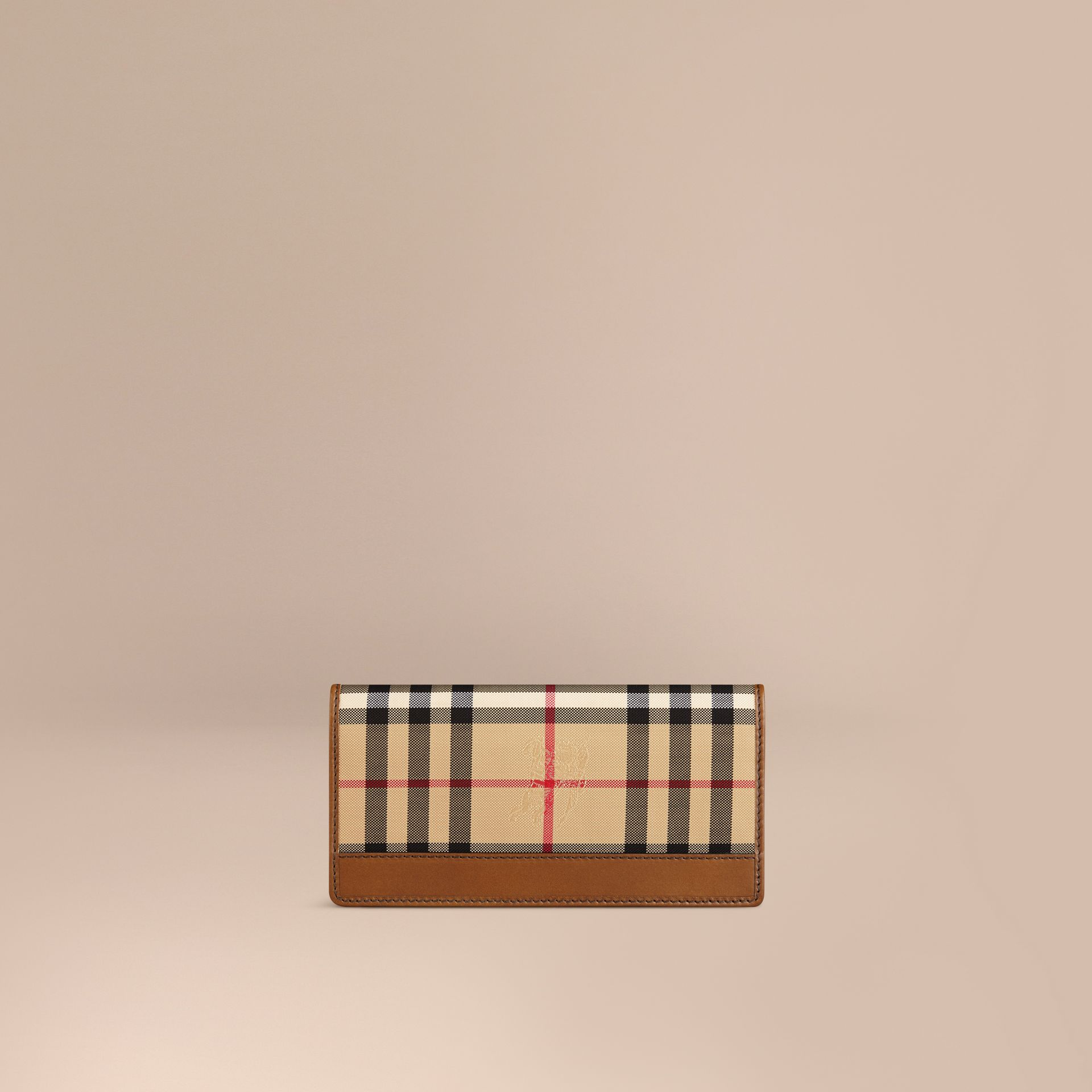 Horseferry Check Continental Wallet in Tan - Men | Burberry Hong Kong - gallery image 1