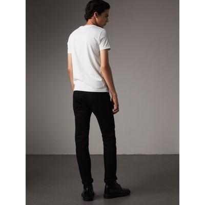 Burberry - T-shirt en jersey de coton - 3