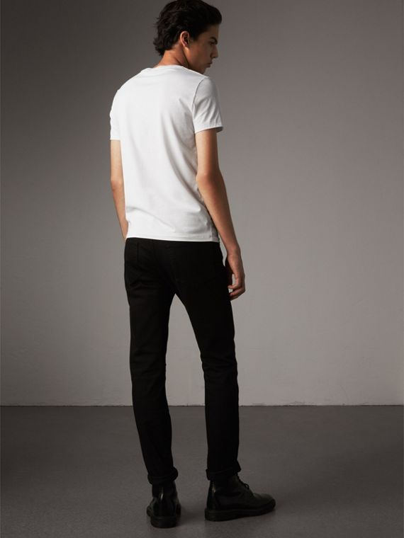 Cotton Jersey T-shirt in Optic White - Men | Burberry United States - cell image 2