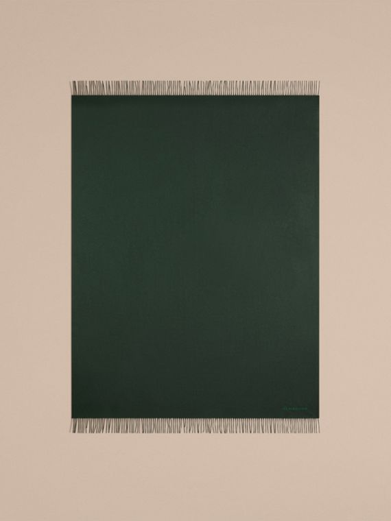 Cashmere Blanket in Dark Forest Green | Burberry United Kingdom - cell image 2