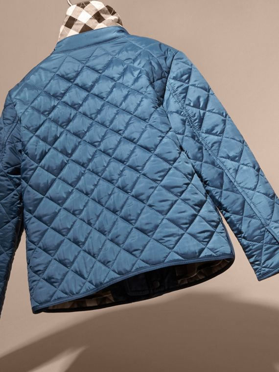 Bright steel blue Diamond Quilted Jacket Bright Steel Blue - cell image 3