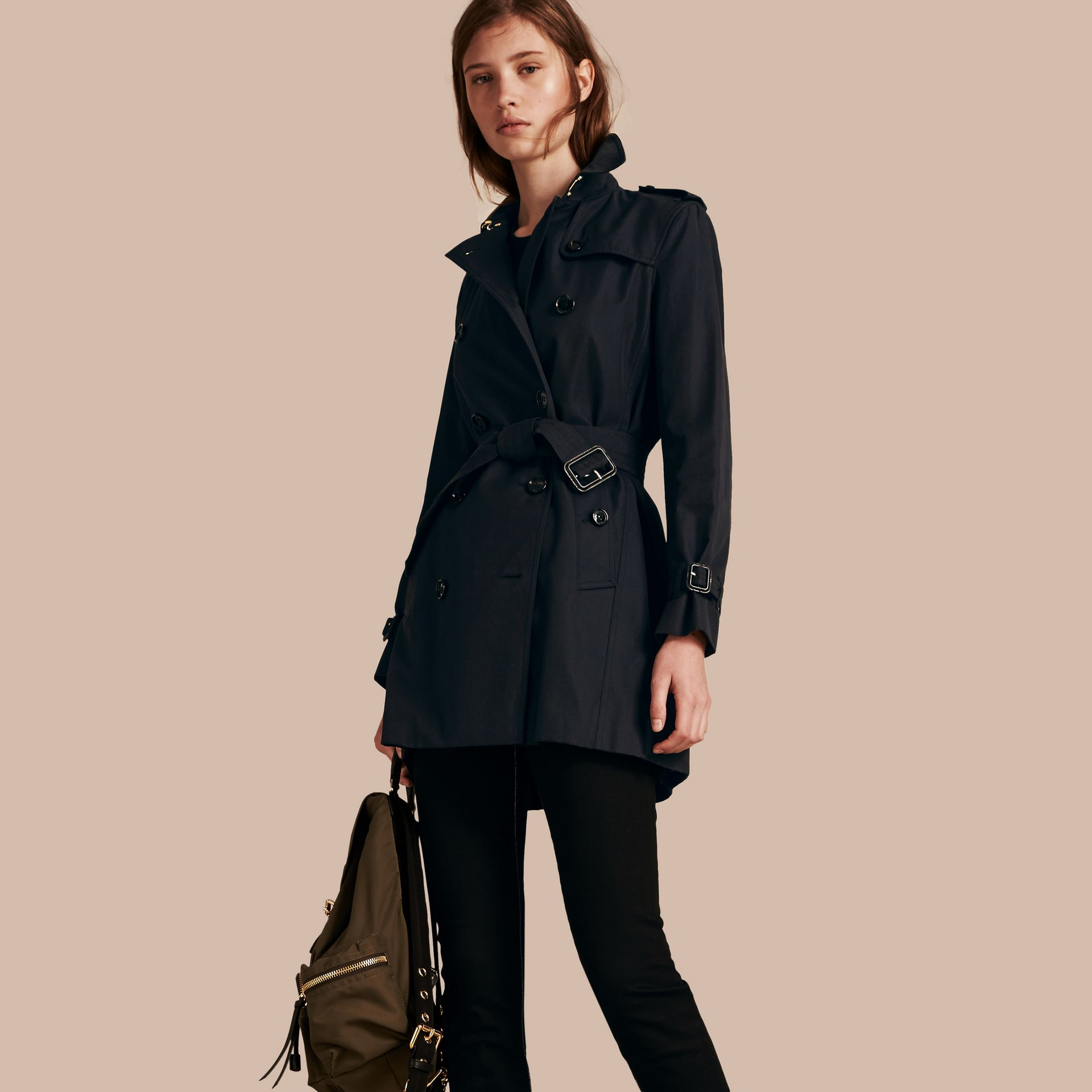 Marine Trench-coat en gabardine de coton - photo de la galerie 1