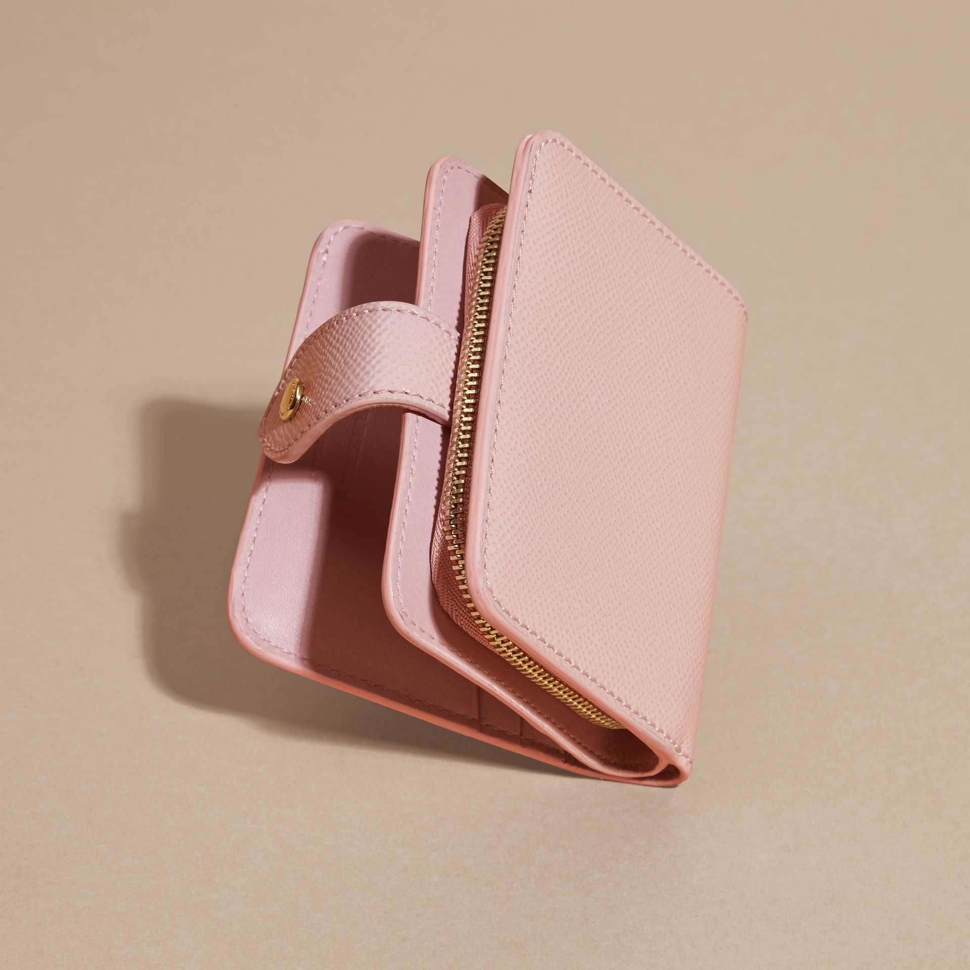 Patent London Leather Wallet in Ash Rose - gallery image 4