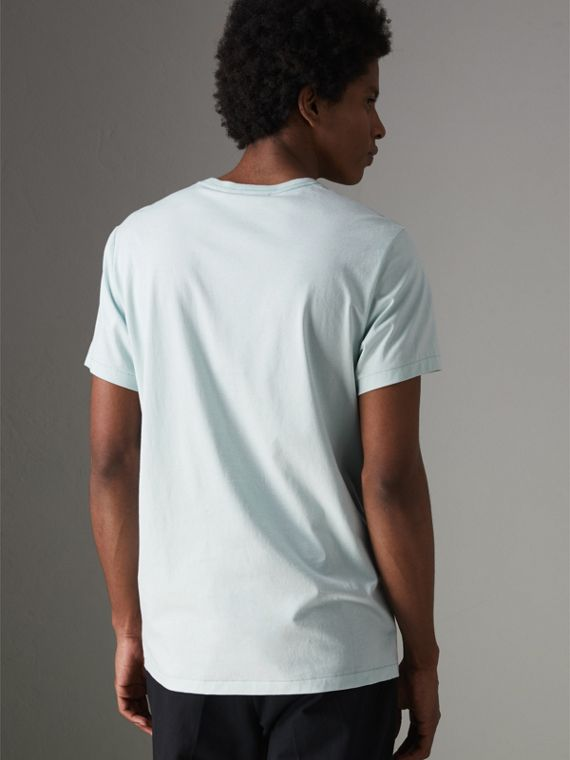 Cotton Jersey T-shirt in Pearl Blue - Men | Burberry - cell image 2