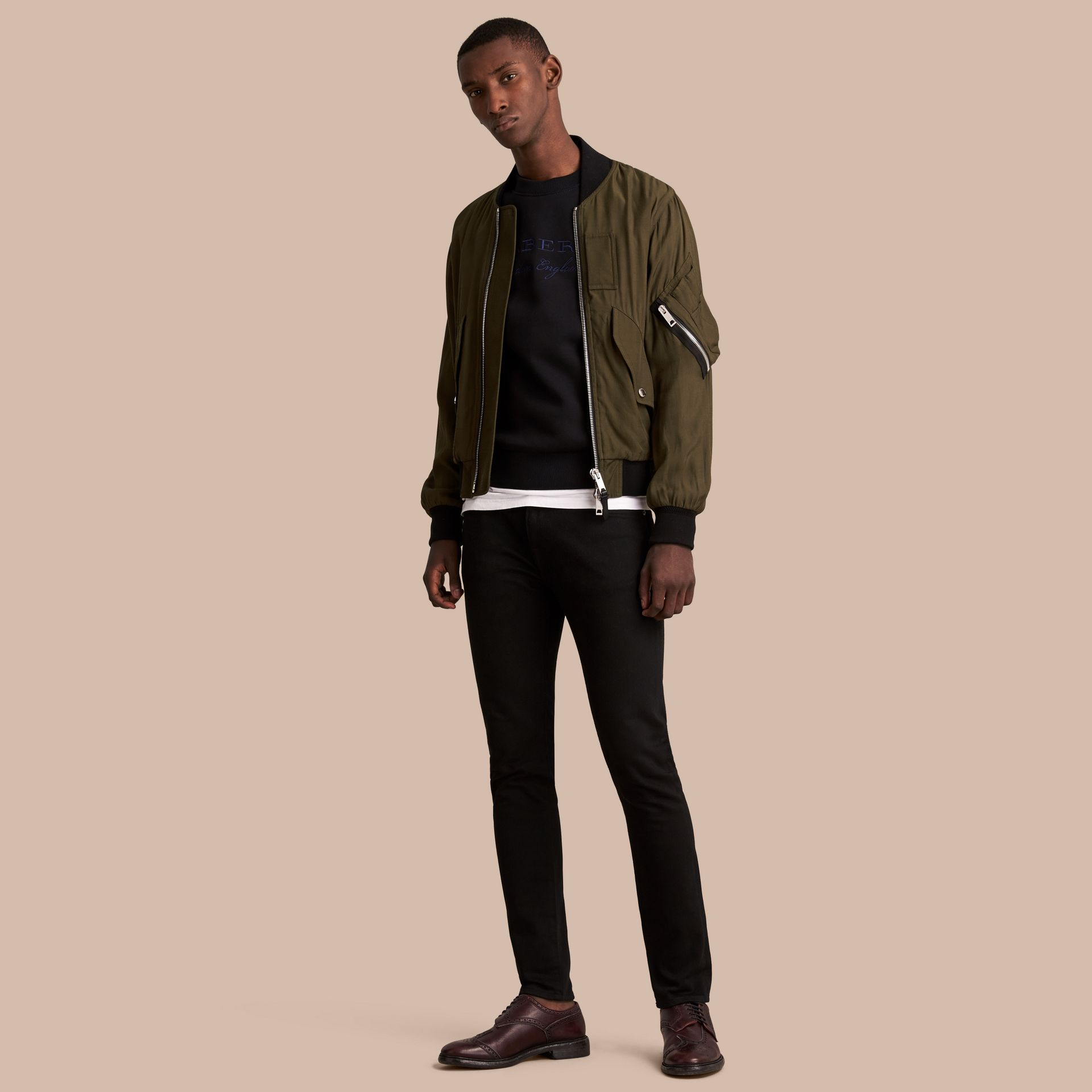 Technical Twill Bomber Jacket - Men | Burberry Australia - gallery image 1