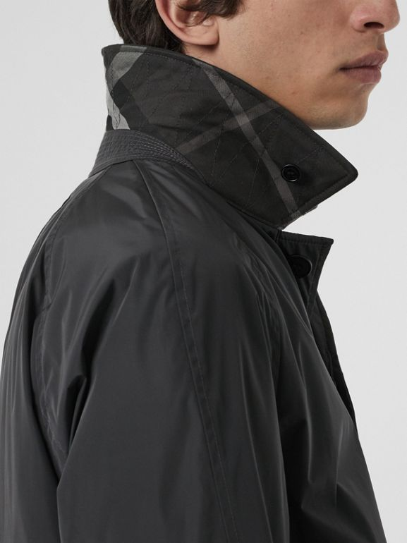 Quilt-lined Nylon Car Coat in Dark Charcoal - Men | Burberry United States - cell image 1