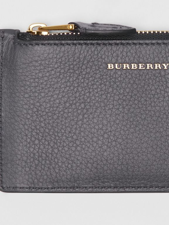 Two-tone Leather Card Case in Charcoal Grey - Women | Burberry Singapore - cell image 1