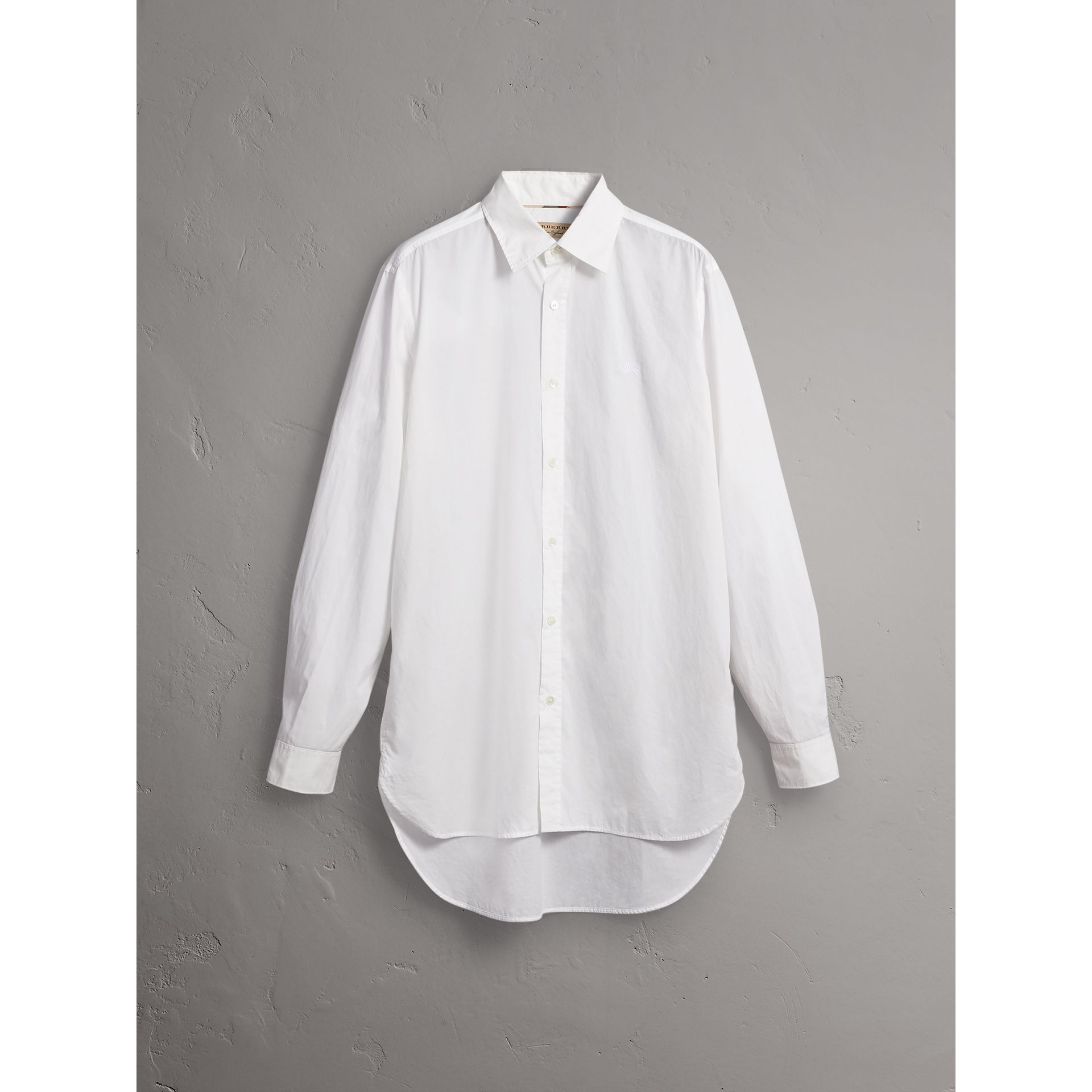 Japanese Cotton Poplin Shirt in White - Men | Burberry - gallery image 4