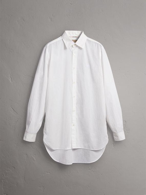 Japanese Cotton Poplin Shirt in White - Men | Burberry Singapore - cell image 3
