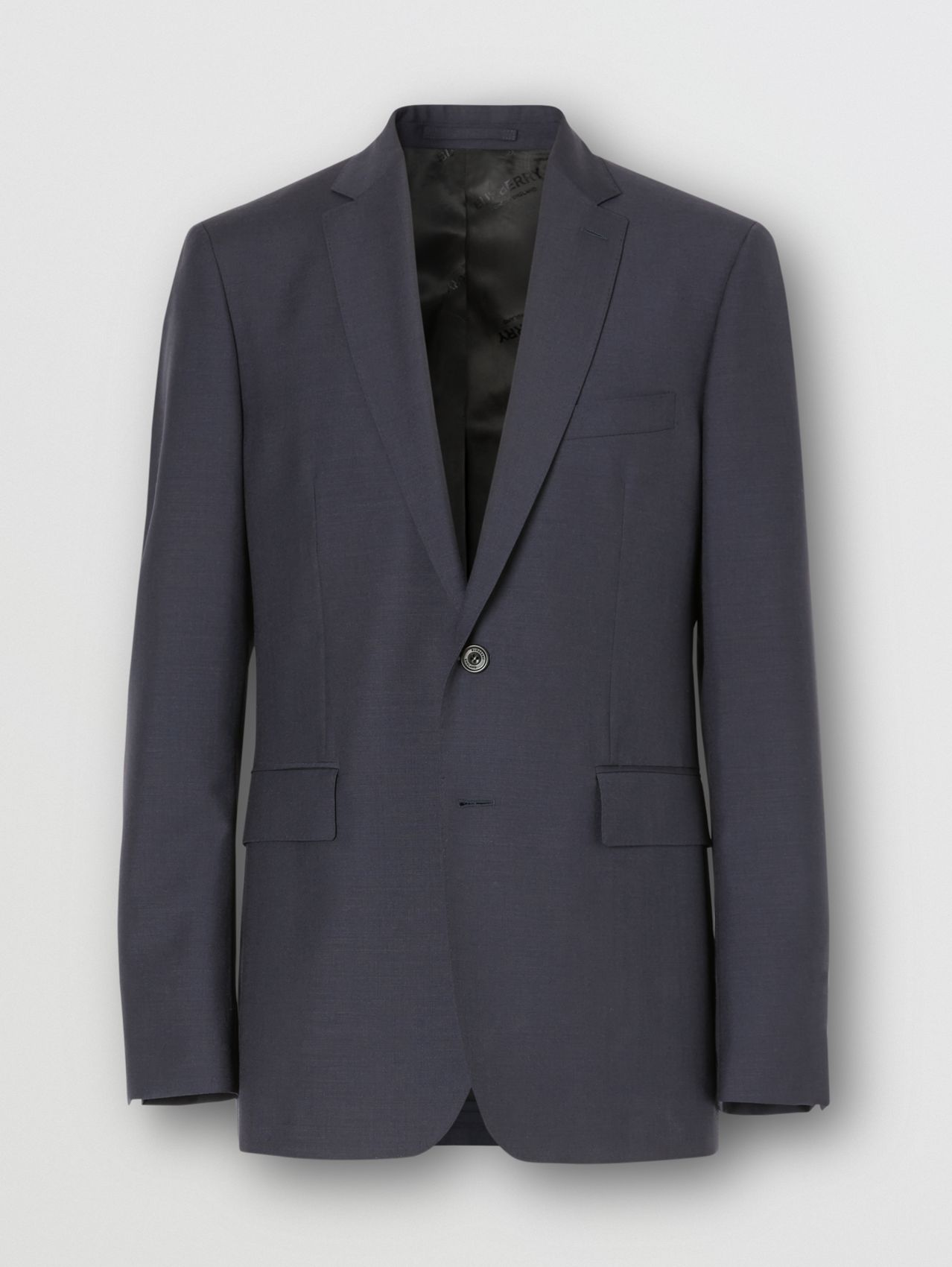 Slim Fit Wool Mohair Suit in Navy