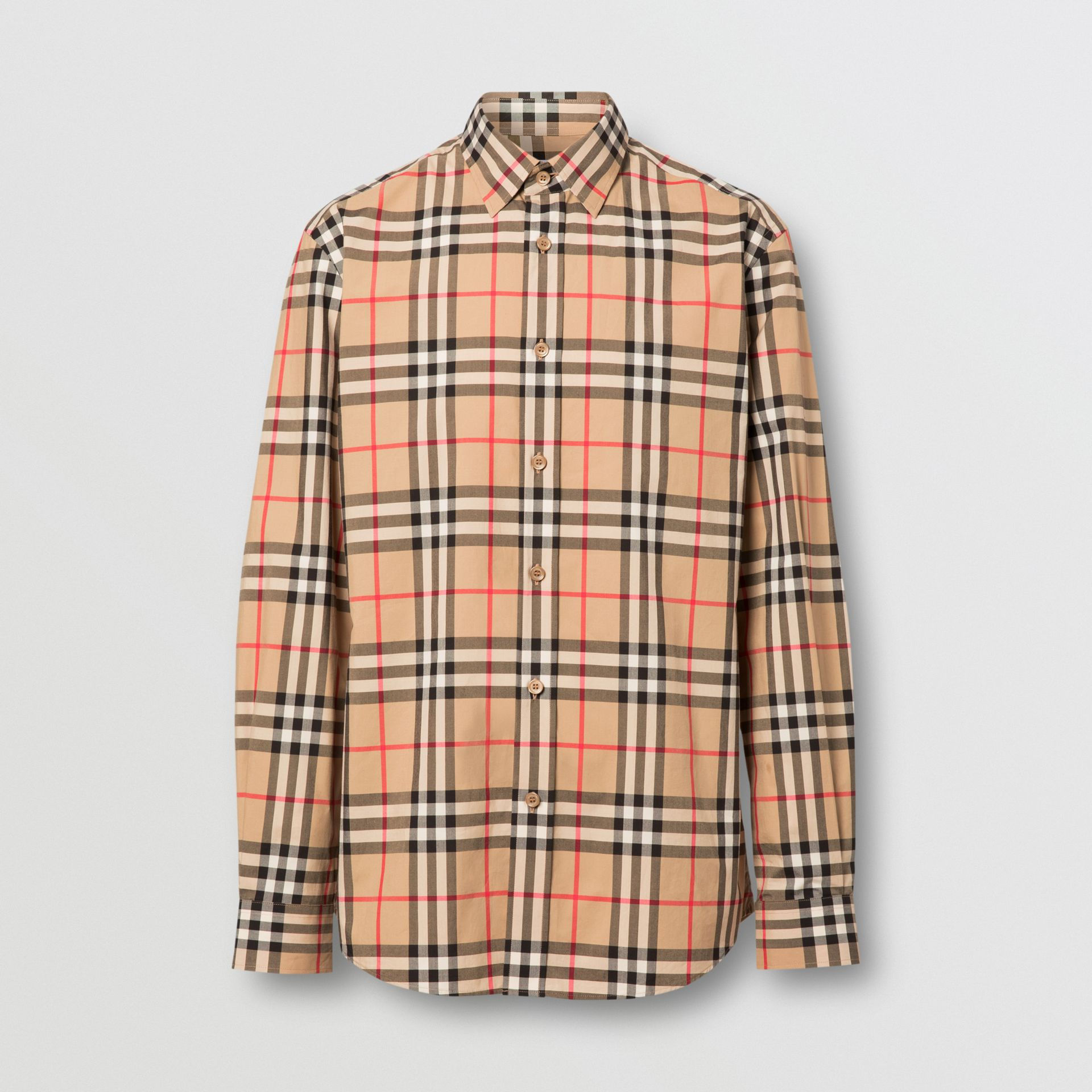 Vintage Check Cotton Poplin Shirt in Archive Beige - Men | Burberry - gallery image 3